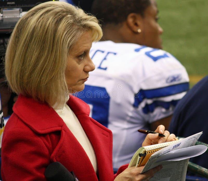 NBCandrea Kremer Sportscaster lizenzfreies stockfoto