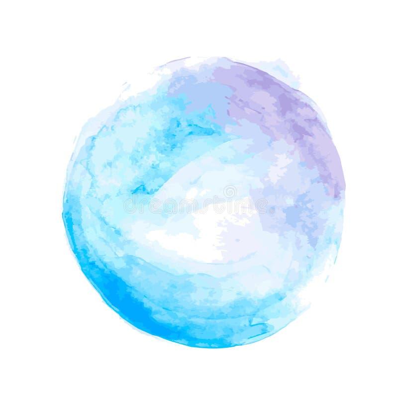 Nblue-Aquarellkreis stockbild
