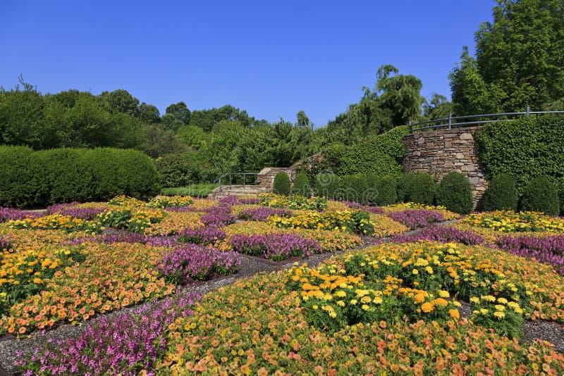 NC arboretum in Asheville stock afbeeldingen