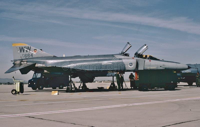 NC 4815 do U.S.A.F. McDonnell F-4E fotos de stock