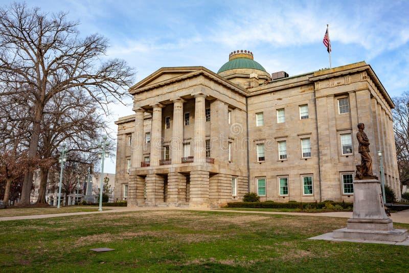 NC Raleigh de construção principal, North Carolina imagens de stock royalty free