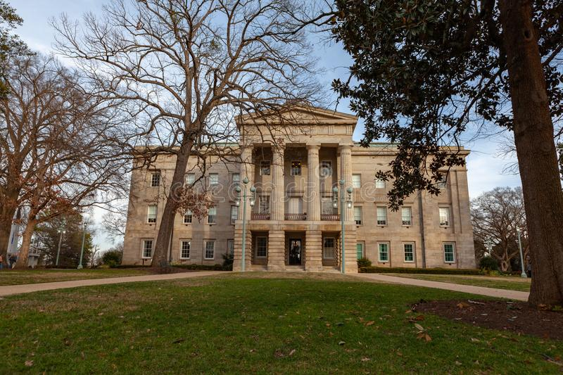 NC Raleigh di costruzione capitale, Nord Carolina fotografia stock libera da diritti