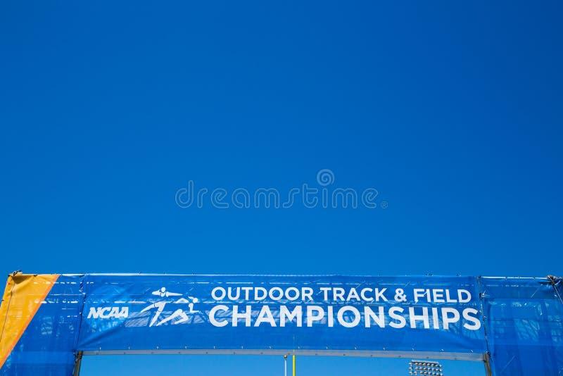 NCAA室外田径运动冠军 免版税图库摄影