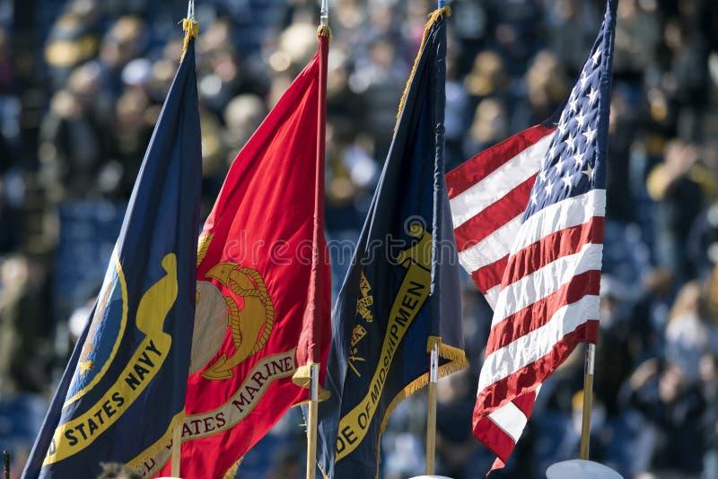2015 NCAA橄榄球-海军的南佛罗里达 免版税库存照片