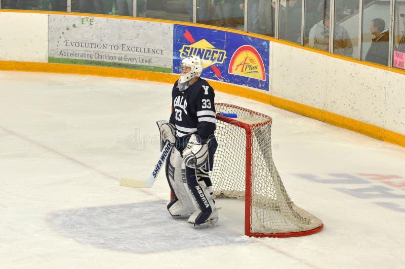 ncaa Ейль jeff malcolm хоккея игры стоковая фотография rf