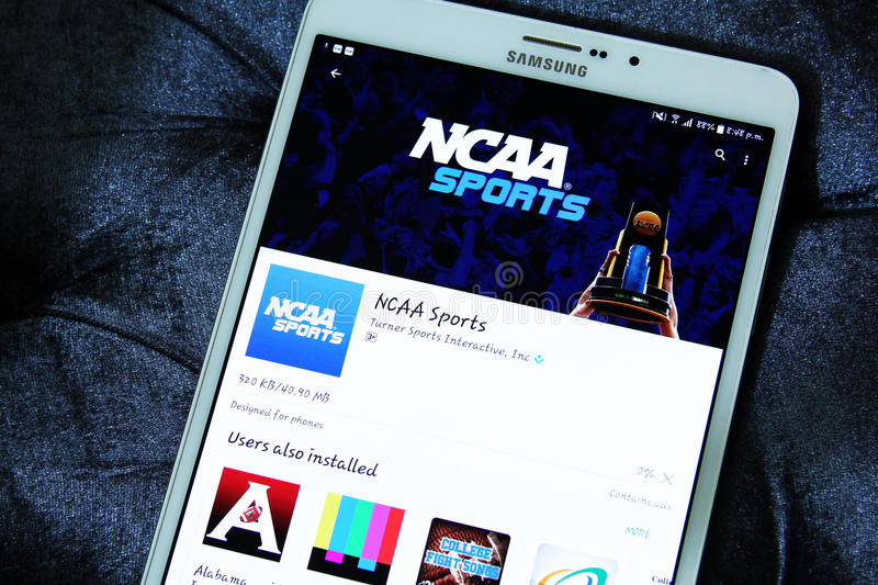 NCAA APP mobile photos stock