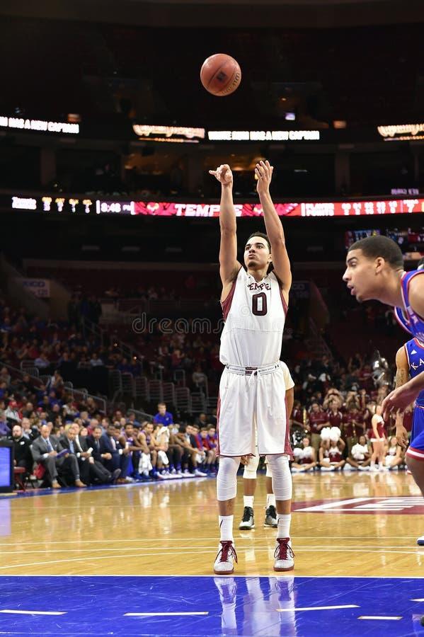 2014 NCAA Basketbal - Kansas bij Tempel royalty-vrije stock foto