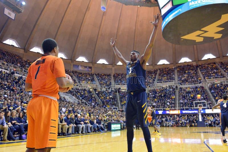 2015 NCAA Basketbal - Staat WVU-Oklahoma stock afbeelding
