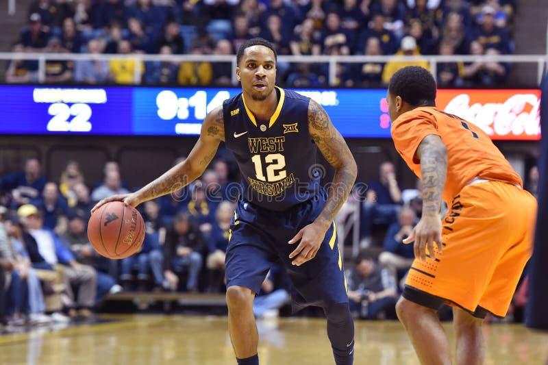 2015 NCAA Basketbal - Staat WVU-Oklahoma stock fotografie