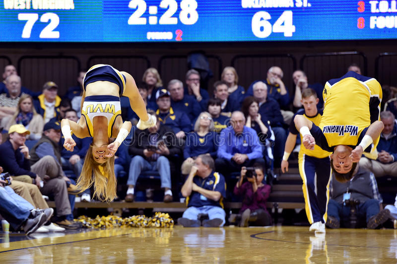 2015 NCAA Basketbal - Staat WVU-Oklahoma royalty-vrije stock foto's