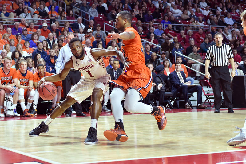 2015 NCAA Basketball - NIT First Rd Temple-Bucknell royalty free stock photo