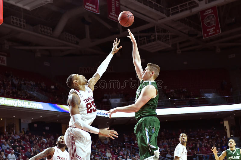 2015 NCAA Basketball - Temple-Tulane stock photography