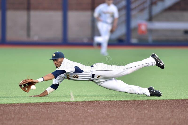 2015 NCAA Honkbal - wvu-TCU stock foto's