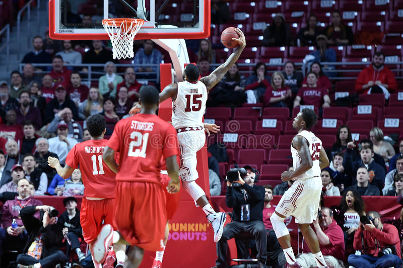 2015 NCAA Men's Basketball - Temple-Houston stock image