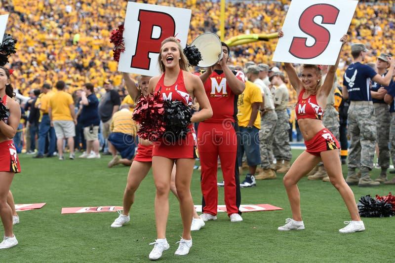 2015 NCAA Voetbal - Maryland @ WVU stock foto