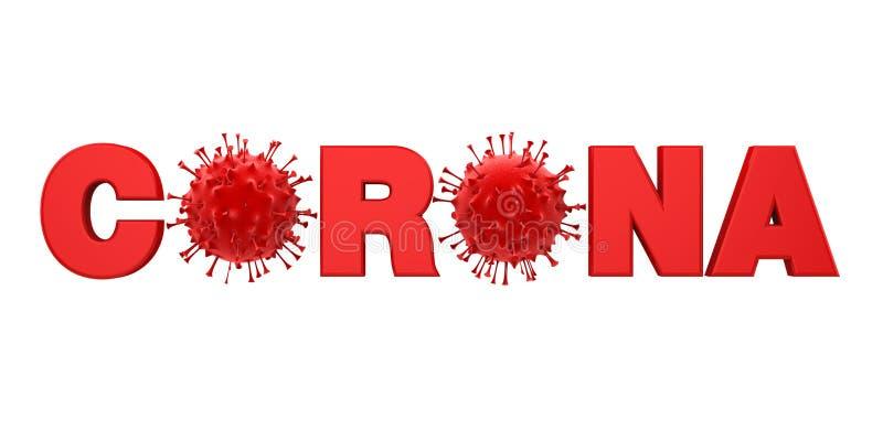 2019-nCoV Coronavirus Illustration stock illustration