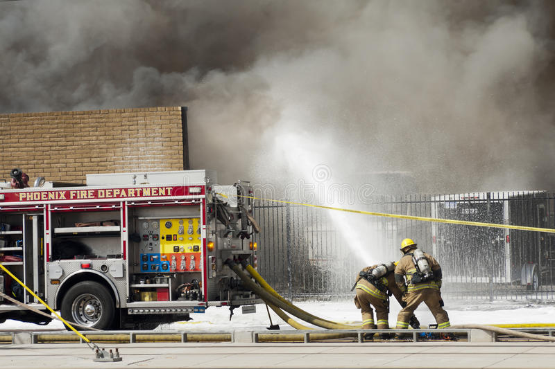 2nd Alarm fire I stock photography