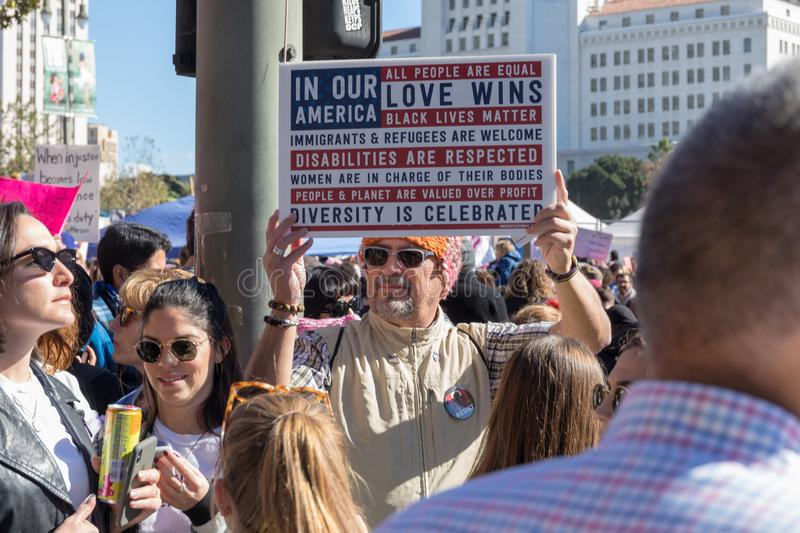 2nd Annual Women`s March - In our America stock images