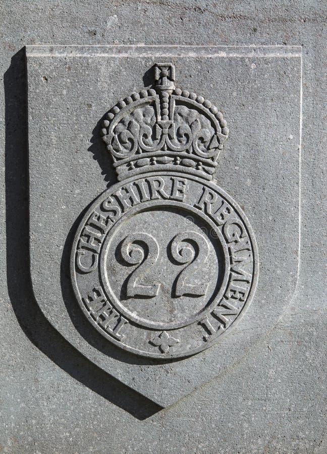 22nd Cheshire Regiment Badge royaltyfria foton