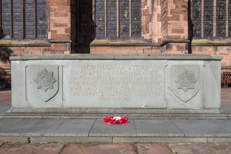 22nd Cheshire Regiment War Memorial i Chester royaltyfria bilder