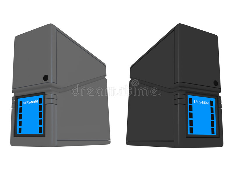 ND des serveurs 3D illustration libre de droits