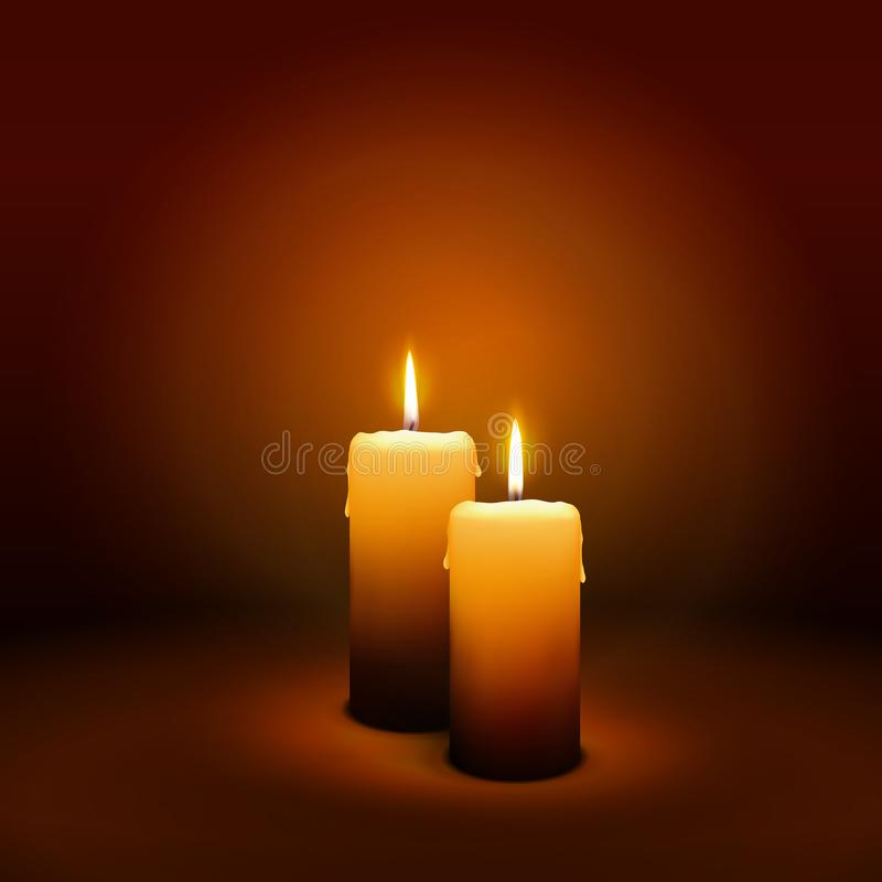 2nd Sunday of Advent - Second Candle - Candlelight stock images