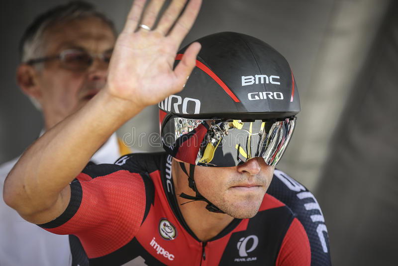 102nd Tour de France - experimentação do tempo - primeira fase fotos de stock royalty free