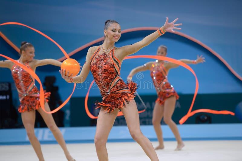 32nd Världsmästerskap för rytmisk gymnastik arkivfoton