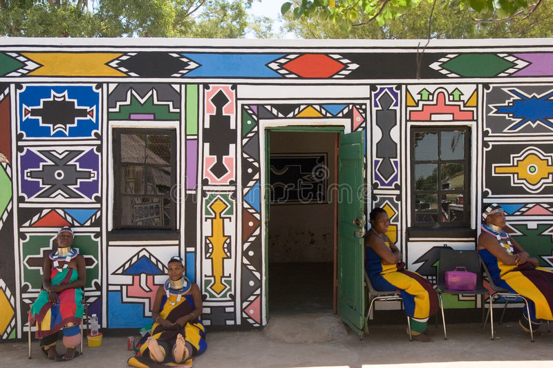 Ndebele tribe royalty free stock photos