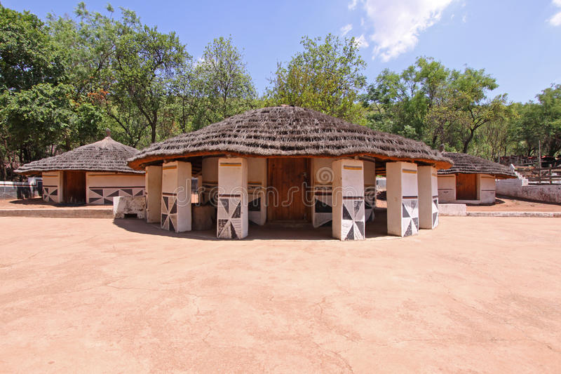 Ndebele Village stock images