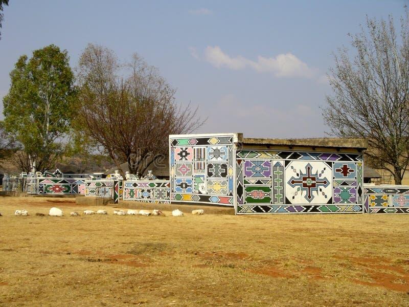 Ndebele village stock image