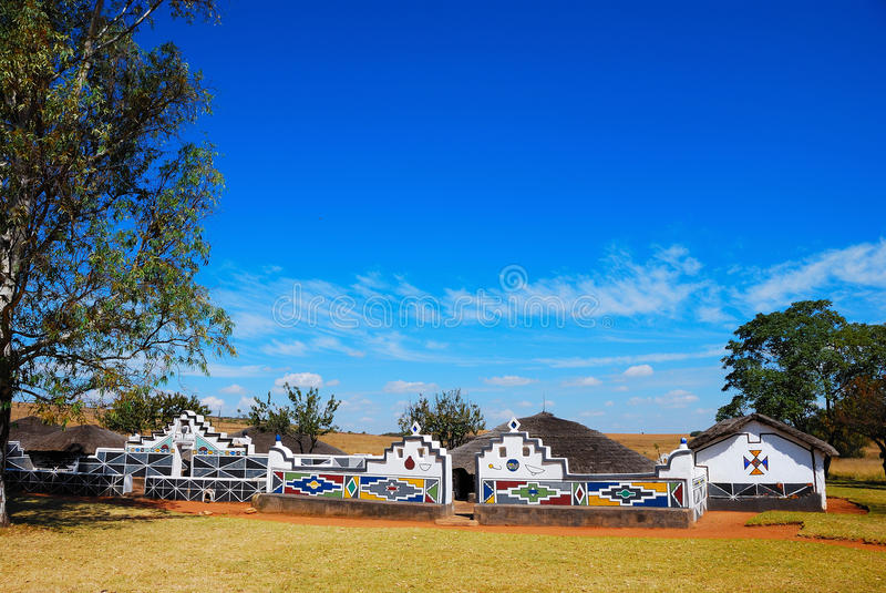 Ndebele Village (South Africa) stock photos