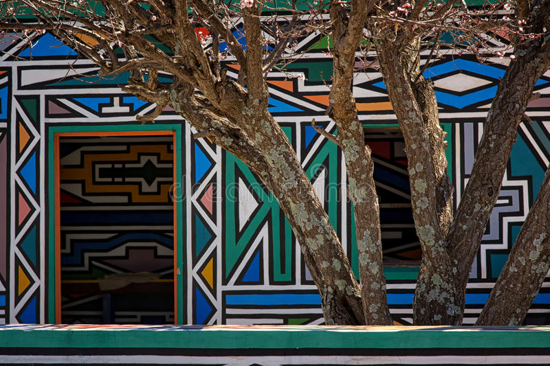 Ndebele Village (South Africa) stock image