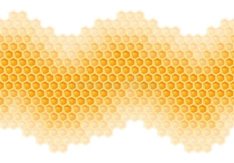 ?ndl?s honungskakabakgrund - stock illustrationer