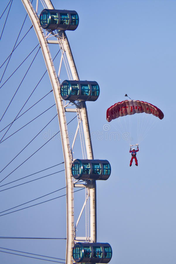 Download NDP 2009: Paratrooper From Singapore Editorial Photography - Image: 10354677
