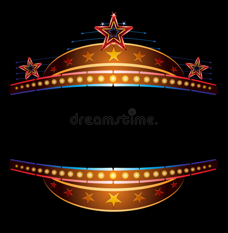 Neón con las estrellas stock de ilustración