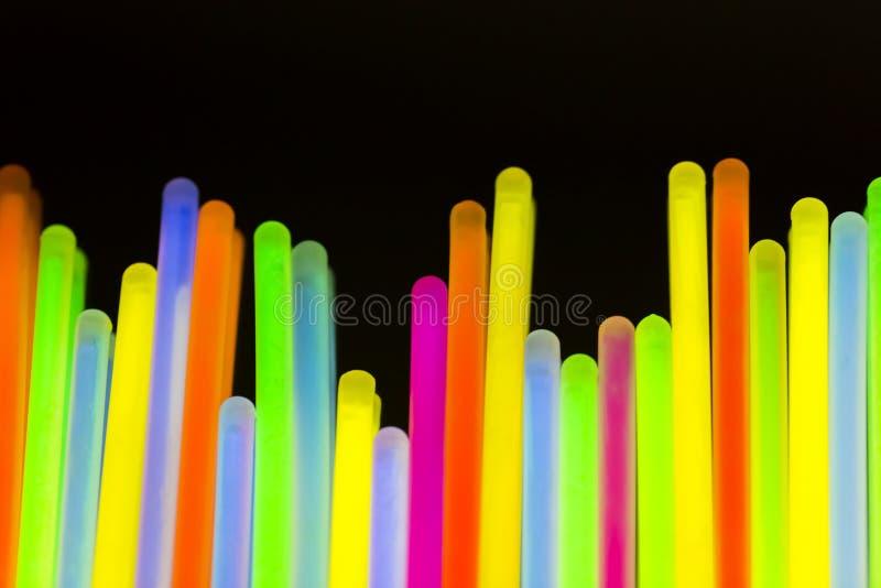Neón fluorescente coloreado de las luces fotografía de archivo libre de regalías