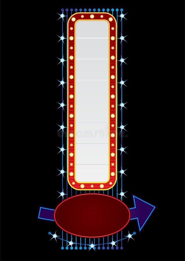 Neón vertical stock de ilustración