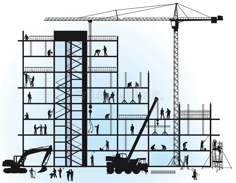 Ne construction vector illustration