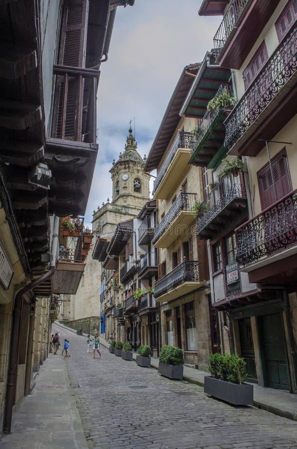 Ne das ruas do centro histórico da cidade de Hondar fotografia de stock royalty free