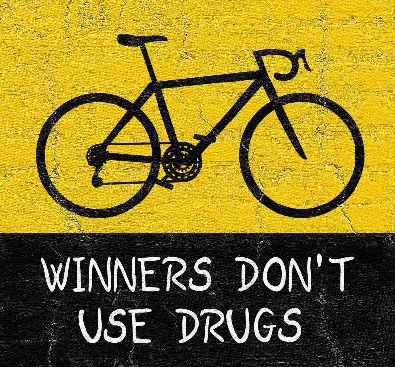 Ne folâtrez aucune drogue illustration stock