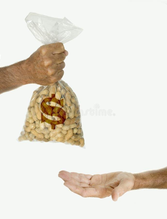 Ne fonctionnez pas pour des arachides ! photos stock