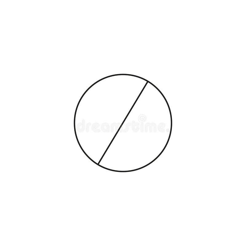 Ne font pas la ligne icône d'entrée ; signe d'interdiction ; interdit non laissé ; graphiques de vecteur ; un modèle linéaire sur illustration libre de droits