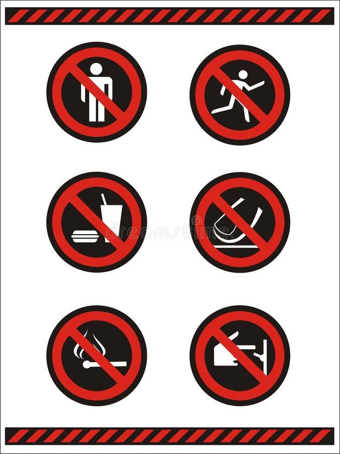 Ne font pas les symboles illustration stock