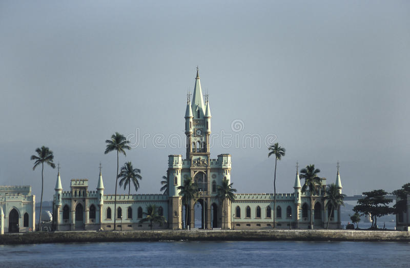 The ne-gothic building of the Ilha Fiscal in Rio de Janeiro, Br. The neo-Gothic building of the Ilha Fiscal (Fiscal Island), Rio de Janeiro, Brazil. Designed in royalty free stock photography