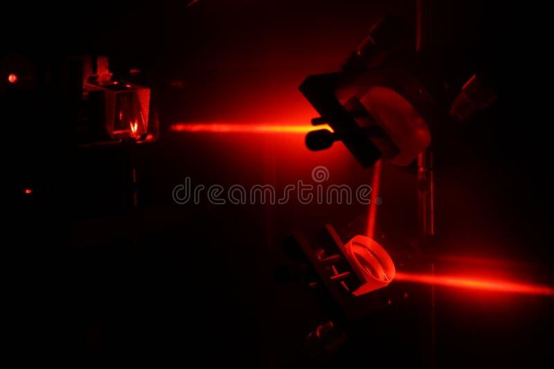 He-Ne laser beam royalty free stock image