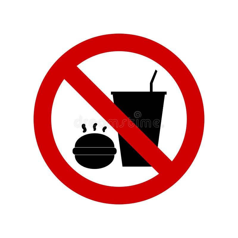 Ne mangez pas ou ne buvez pas le signe illustration libre de droits