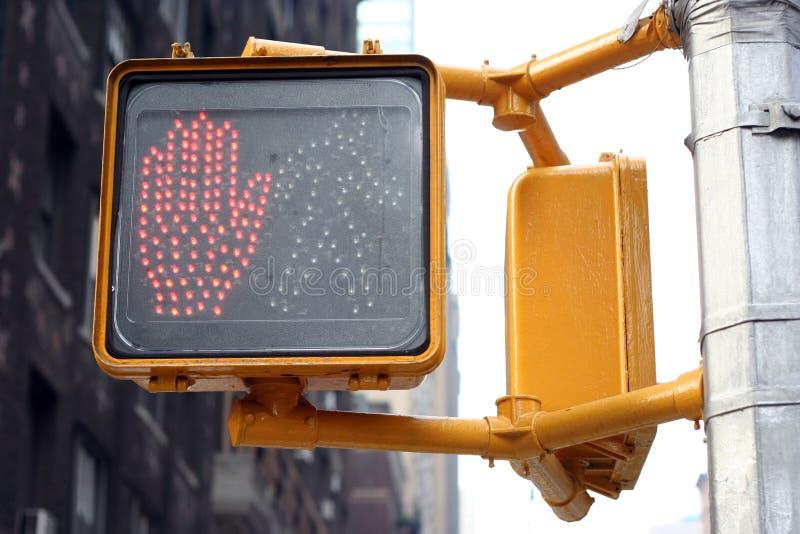 Ne marchent pas le feu de signalisation photographie stock libre de droits