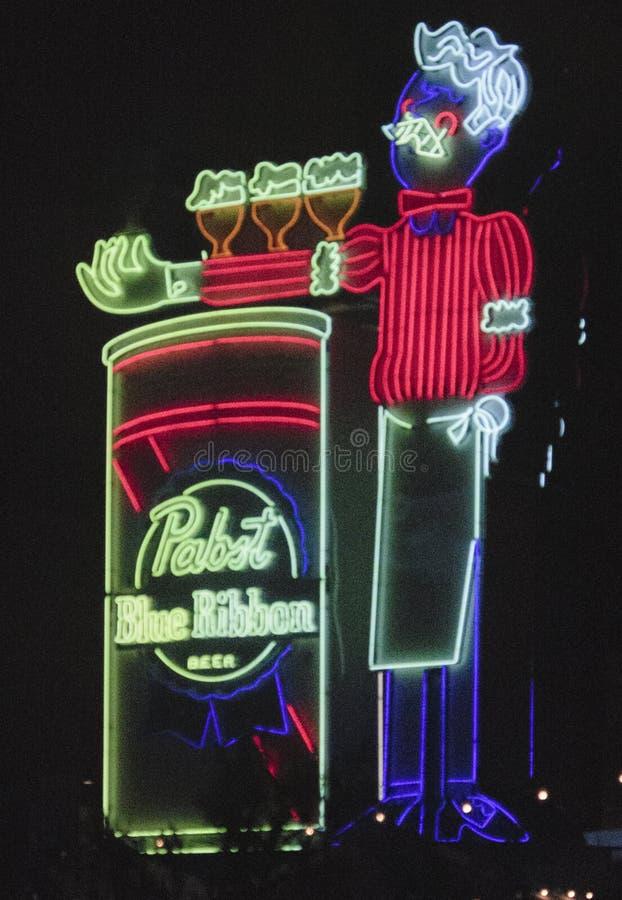 Ne?n de Las Vegas imagenes de archivo