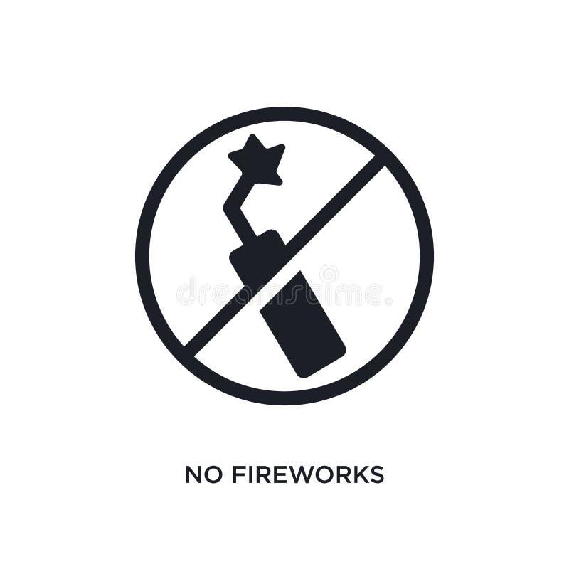 ne noircissez aucune icône de vecteur d'isolement par feux d'artifice illustration simple d'?l?ment des ic?nes de vecteur de conc illustration libre de droits